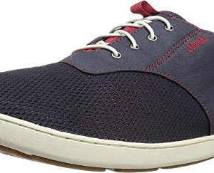OLUKAI Mens Nohea Moku Trench Blue/Deep Red Sneaker