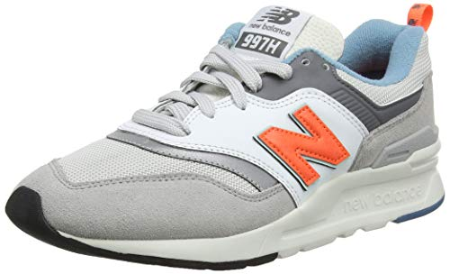 New Balance Men's Sneaker, RAIN Cloud/Dark Mango