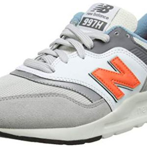 New Balance Men's Sneaker, RAIN Cloud/Dark Mango
