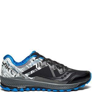 Saucony Men's Peregrine 8 ICE+ Sneaker, Black/White, 9 M US