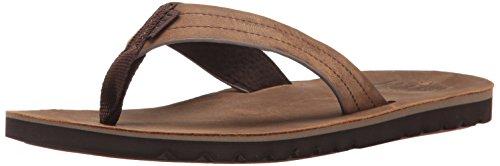 Reef Mens Sandal Voyage Le | Premium Real Leather Flip Flops