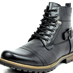 Bruno Marc Men's Philly-5 Black Military Combat Boots