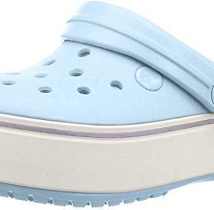 Crocs Crocband Platform Clog, Mineral Blue/Lavender