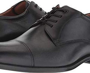 Florsheim Men's Amelio Cap Toe Oxford Black Smooth