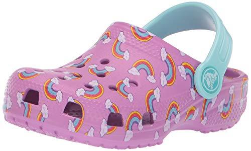 Crocs Kids' Classic Seasonal Graphic Rainbows Clog, Violet