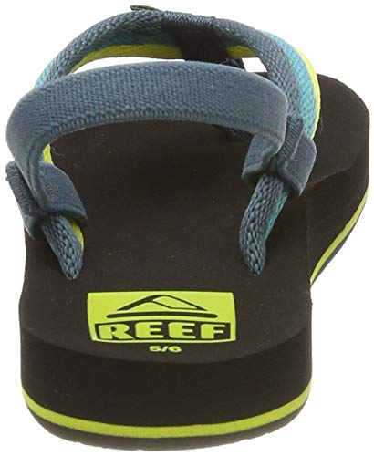 Reef Boys AHI Beach Sandal, Blue/Green