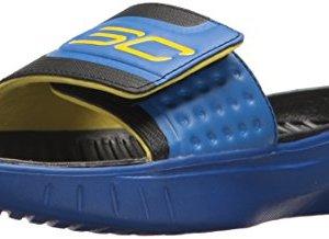 Under Armour Boys' Curry 4 Slides Sandal, Team Royal
