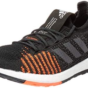 adidas Unisex-Kid's PulseBOOST HD Running Shoe, Black/Grey/Solar Red