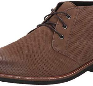 Dr. Scholl's Shoes Men's Willing Chukka Boot, Taupe Leather Perforated