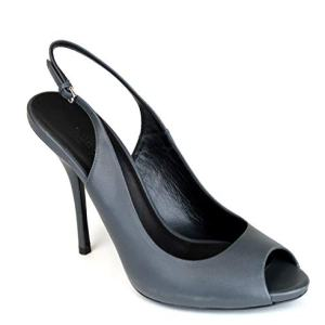 Gucci Women's Black Leather Sling-Back Heel Pump