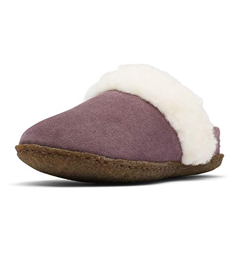 Sorel - Youth Nakiska Slide II Suede Slippers with Faux Fur Cuff and Wool