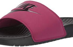 Nike Women's Benassi Just Do It Sandal, True Berry/Burgundy