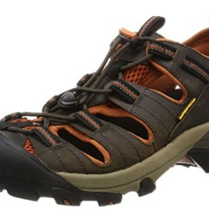 KEEN Men's Arroyo II Hiking Sandal,Black Olive/Bombay Brown