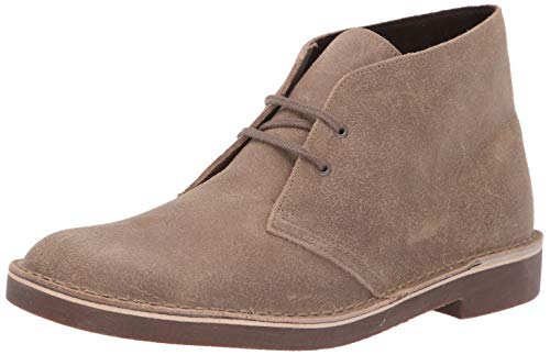 CLARKS Men's Bushacre 2 Chukka Boot, Taupe Distressed Suede