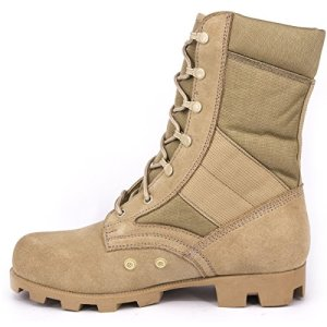 WIDEWAY Men's Military Jungle Boots Full Grain Leather