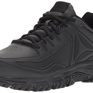 Reebok Men's Ridgerider Leather Sneaker, Black