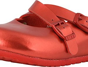Birkenstock Dorian Kids Clogs, Soft Metallic Red
