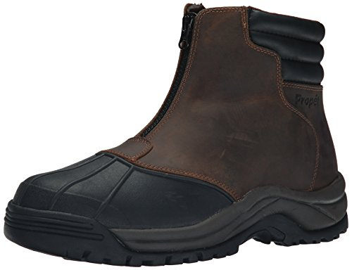 Propet Men's Blizzard Mid Zip-M, Brown/Black