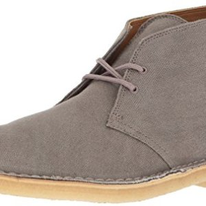 CLARKS Men's Desert Chukka Boot, Taupe Canvas