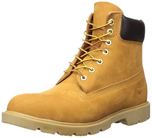"Timberland Men's 6"" Basic Boot-Contrast Collar, Wheat Nubuck"