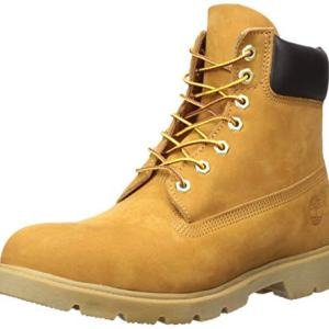 "Timberland Men's 6"" Basic Boot-Contrast Collar, Wheat Nubuck"