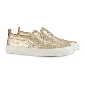 Gucci Women's Metallic Leather Slip-on Sneaker
