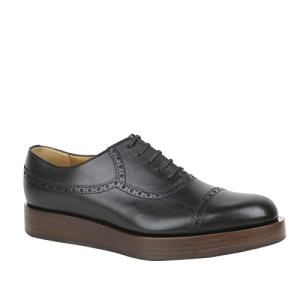 Gucci Lace-up Black Leather Platform Oxford Shoes