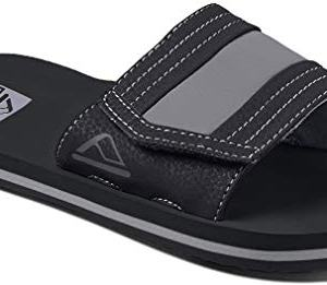 Reef Boys AHI Slide Sandal, Black