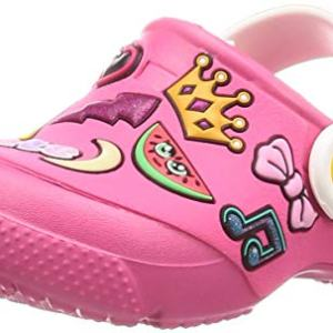 Crocs Unisex FunLab Playful Patches Clog, Paradise Pink