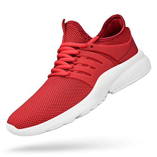 Feetmat Men's Running Shoes Lightweight Non Slip Breathable Mesh