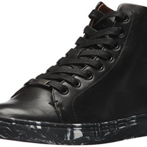 FRYE Women's Ivy High Top Sneaker, Black
