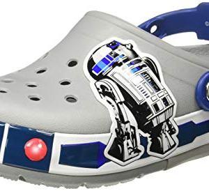 Crocs Kids' Crocband Lights Clog, light grey