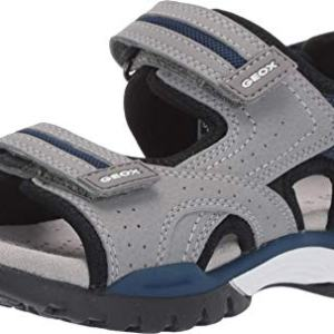 Geox Boys' J Borealis D Open Toe Sandals, Grey