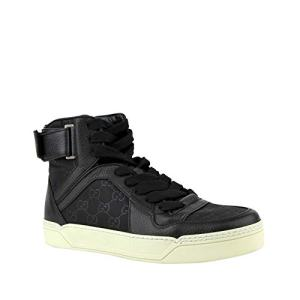 Gucci Men's Nylon Guccissima High-Top Black Sneakers