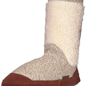 Acorn Unisex-Kid's Slouchboot Slipper, Buff Popcorn