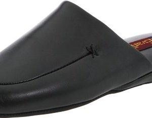 L.B. Evans Men's Duke Scuff Black Leather Clog/Mule