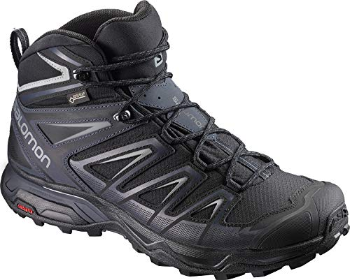 SALOMON X ULTRA 3 MID GTX MEN'S HIKING BOOTS BLACK/INDIA