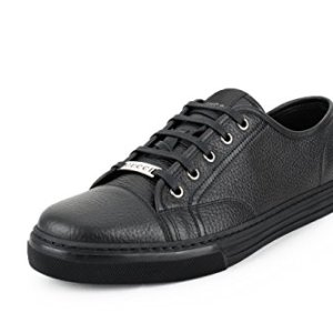Gucci Men's Pebbled Nappa Leather Low-top Sneakers