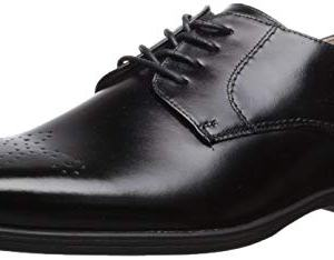 Florsheim Kids Boys' Reveal Perf Toe Oxford, Jr, Black