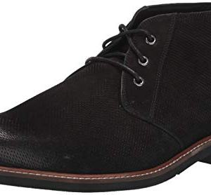 Dr. Scholl's Shoes Men's Willing Chukka Boot, Black Leather Perforated