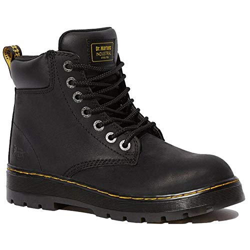 Dr. Martens Men's Winch 7-eye Lace-up Steel-toe Black Boot
