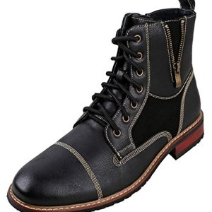 Ferro Aldo Mens Lace up Military Combat Work Desert Ankle Boot