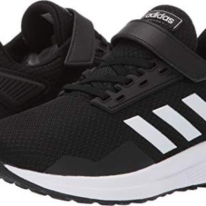 adidas Unisex Duramo 9 Running shoe, White/Black