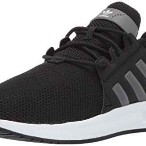 adidas Originals Unisex-Kid's X_PLR EL Running Shoe, Black/Grey/White