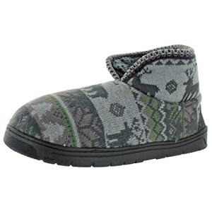 MUK LUKS Men's Mark Slippers-Grey, Medium