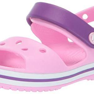Crocs Kids' Crocband Sandal, Carnation/Amethyst