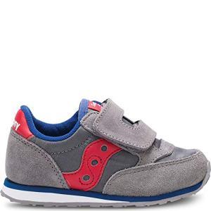Saucony Boys' Baby Jazz HL Sneaker, Grey/Red