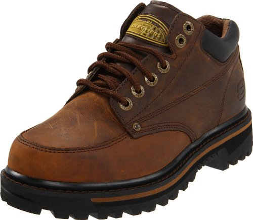 Skechers USA Men's Mariner Utility Boot,Dark Brown