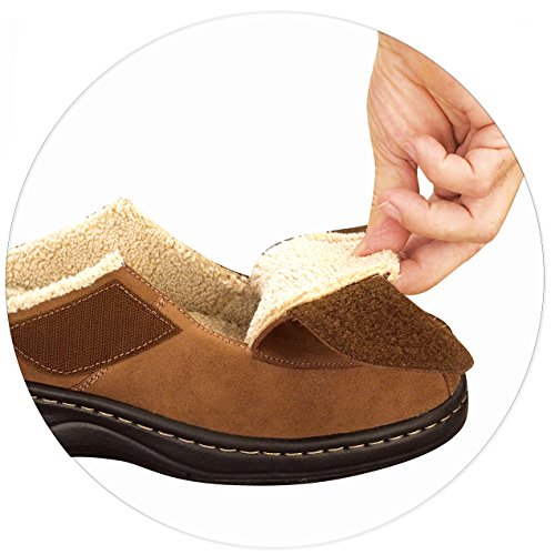 Orthofeet Pain Relief Arch Support Plantar Fasciitis Comfortable Orthofeet Pain Relief Arch Support Plantar Fasciitis Comfortable Wide Orthopedic Mens Slippers Asheville Brown.