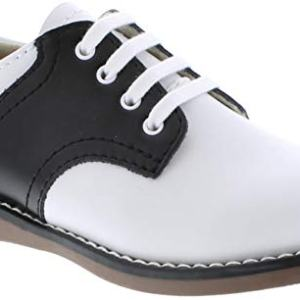 FootMates Unisex Cheer 3 (Infant/Toddler/Little Kid) White/Black Oxford